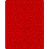 Plateau velours rouge vif à 30 alvéoles ronds pour capsules Ø ext. 39,5 mm, par ex. pour 20 Euro-/10 Euro-Argent Allemagne sous capsules LINDNER  – Bild 1