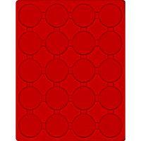 Plateau velours rouge vif à 20 alvéoles ronds  pour capsules Ø ext. 48 mm  – Bild 1