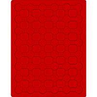 Plateau velours rouge vif à 48 alvéoles ronds pour monnaies Ø 24 mm – Bild 1
