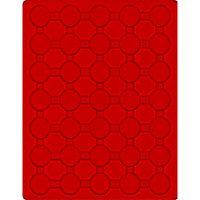 Plateau velours rouge vif à 35 alvéoles ronds pour capsules Ø ext. 32 mm, par ex. pour 2 Euro sous capsules LINDNER  – Bild 1