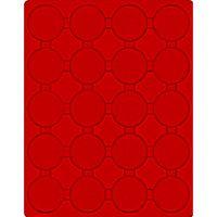 Plateau velours rouge vif pour 20 pièces 1 Once Argent LUNAR II sous capsules capsules d'origine – Bild 1