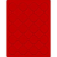 Inserto velluto rosso 2544E (Ø 44 mm) – Bild 1