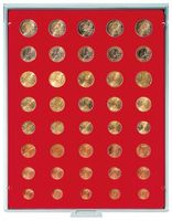 Velour insert light red, 2555E (for 5 x EURO coin sets)