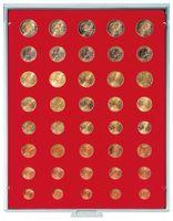 Велюровый планшет красного цвета  2555E (для размещение комплектов монет евро)