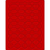 Plateau velours rouge vif pour 5 séries de pièces Euro courantes sous capsules LINDNER – Bild 1
