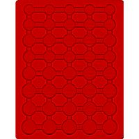 Velour insert light red, 2556E (for 5 x EURO coin sets in coin capsules) – Bild 1