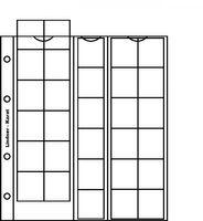 karat-Münzblätter 30 Münzen, max. 30 mm Ø, inkl. Zwischenblatt rot, 5er- Packung