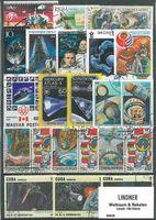 Briefmarkenpaket: Weltraum und Raketen (100 Briefmarken)