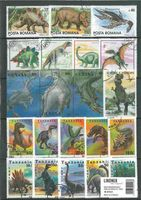 Stamp package: Prehistoric Animals (100 stamps)
