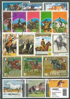 Stamp package: Horses (100 stamps)