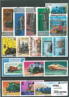 Stamp package: Railways (100 stamps)
