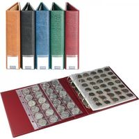 LINDNER Luxus Coin album available with 10 coin pages, light brown