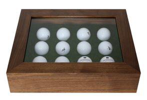 Luxury solid wood Golf ball showcase – Bild 1