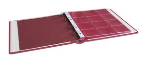 karat - Coin album LEATHER, incl. 10 coin pages, wine red – Bild 3