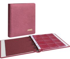 karat - Coin album LEATHER, incl. 10 coin pages, wine red – Bild 1