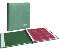 karat - Coin album LEATHER, incl. 10 coin pages, green – Bild 1
