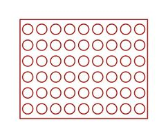 Coin case NERA M AZUR for 54 x 2 EURO coins or other coins with Ø 25,75 mm - with red coin insert – Bild 3