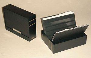 KOBRA-Boîte de classement complète avec 30 cartes de rangement DIN A5