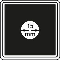 Münzkapseln CARRÉE 15 mm, 4er Pack – Bild 1