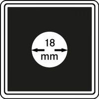 Münzkapseln CARRÉE 18 mm, 4er Pack – Bild 1