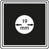 Münzkapseln CARRÉE 19 mm, 4er Pack – Bild 1