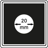 Münzkapseln CARRÉE 20 mm, 4er Pack – Bild 1