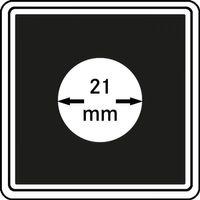 Монетные капсулы CARRÉE 21 мм, в комплекте 4 капсулы – Bild 1