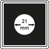 Münzkapseln CARRÉE 21 mm, 4er Pack – Bild 1