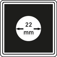 Münzkapseln CARRÉE 22 mm, 4er Pack – Bild 1