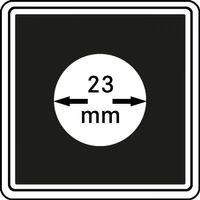 Münzkapseln CARRÉE 23 mm, 4er Pack – Bild 1