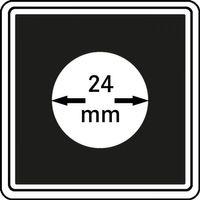 Münzkapseln CARRÉE 24 mm, 4er Pack – Bild 1