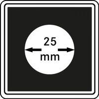 Münzkapseln CARRÉE 25 mm, 4er Pack – Bild 1