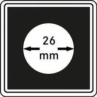 Münzkapseln CARRÉE 26 mm, 4er Pack – Bild 1