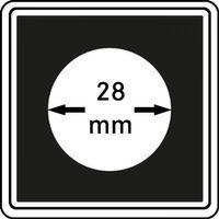 Münzkapseln CARRÉE 28 mm, 4er Pack – Bild 1