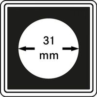 Münzkapseln CARRÉE 31 mm, 4er Pack – Bild 1