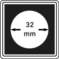 Münzkapseln CARRÉE 32 mm, 4er Pack – Bild 1