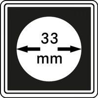 Münzkapseln CARRÉE 33 mm, 4er Pack – Bild 1