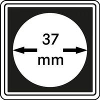 Münzkapseln CARRÉE 37 mm, 4er Pack – Bild 1