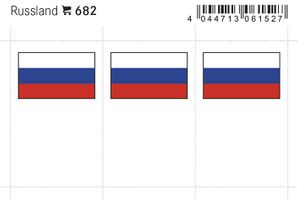 Flaggen-Sticker: Russland, 24 x 38 mm, 6er-Packung