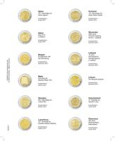 """Multi collect"" Illustrated page for 2 EURO-Commemorative coins: Italy August 2015 - Austria January 2016"