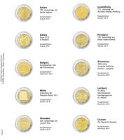 Illustrated page karat for 2 Euro- commemorative coins: Italy August 2015 up toLithuaniaDecember 2015