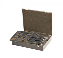 Authentic wood case CARUS for 80 coin holders 50x50 mm/coin capsules CARRÉE/OCTO coin capsules – Bild 1