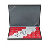 "Coin case NERA ""30 years European flag"" SPECIAL EDITION, incl. 23 coin capsules, with light red insert – Bild 2"