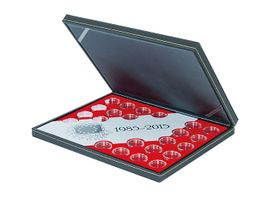 "Coin case NERA ""30 years European flag"" SPECIAL EDITION, incl. 23 coin capsules, with light red insert – Bild 1"