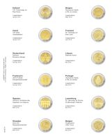 """Multi collect"" Illustrated page for 2 EURO-Commemorative coins: Estonia January 2016 - Belgium May 2016"