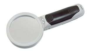 LED -illuminated magnifier with 3 replaceable lens attachments, magnification 2,5x / 5x/16x – Bild 2