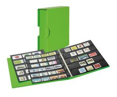 Stamp album PUBLICA M COLOR with 10 double-sided pages  in two layouts - Spring (green) - with matching slipcase