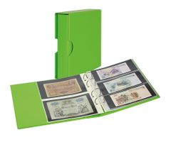 Album PUBLICA M COLOR with 10 double-sided pages in 2 different layouts - Spring (green) - with matching slip case