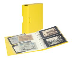Album PUBLICA M COLOR with 10 double-sided pages in 2 different layouts - -Solino (yellow) - with matching slipcase   – Bild 1