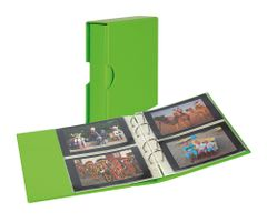 Universal album PUBLICA M COLOR for postcards/ photos with 10 double-sided foil pages -Spring (green) - with matching slipcase